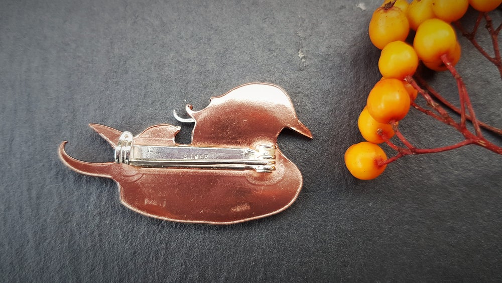 Image of Mandarin Duck Brooch