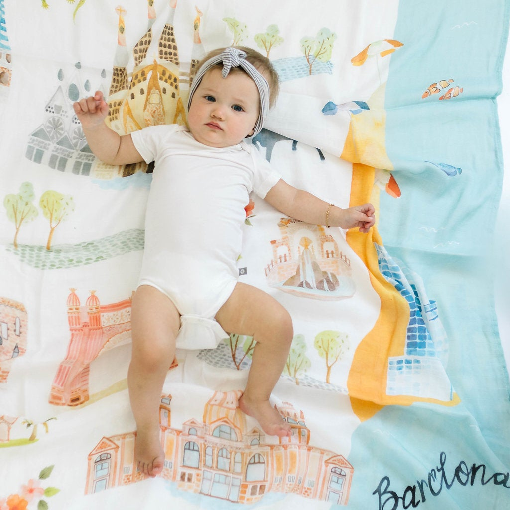 Image of LOU LOU LOLLIPOP Barcelona Bamboo Swaddle