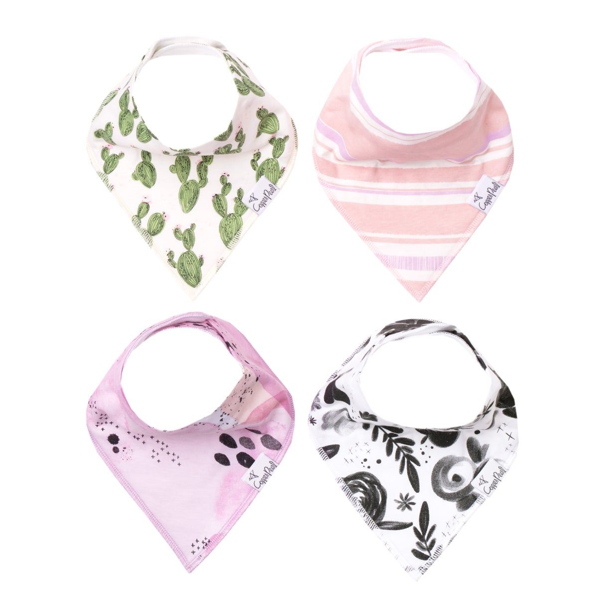 Image of COPPER PEARL BANDANA BIBS- SAGE