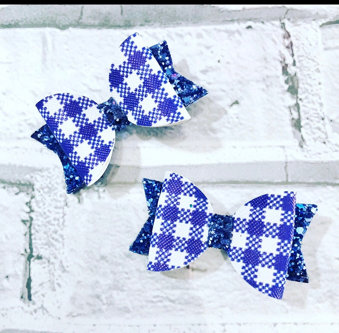 Image of School gingham small Dolly bows
