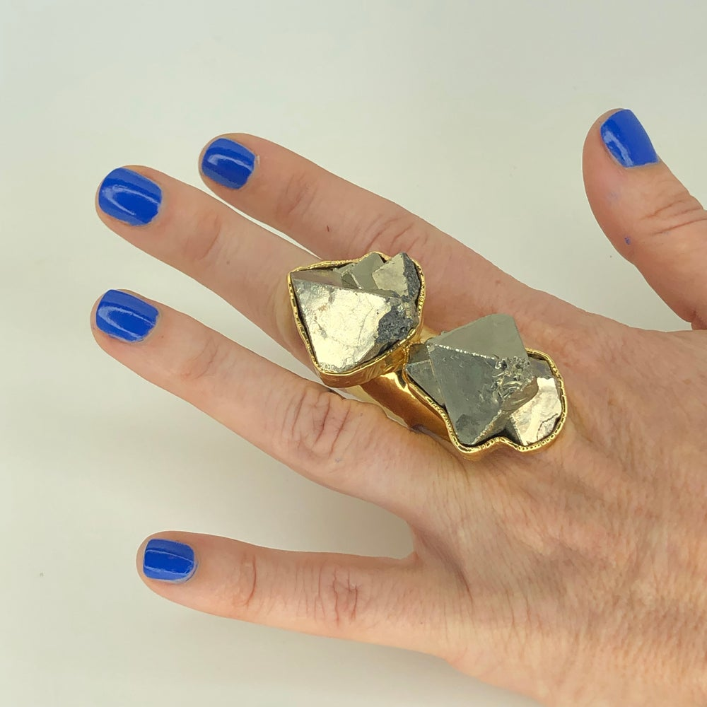 Image of Double Pyrite Ring