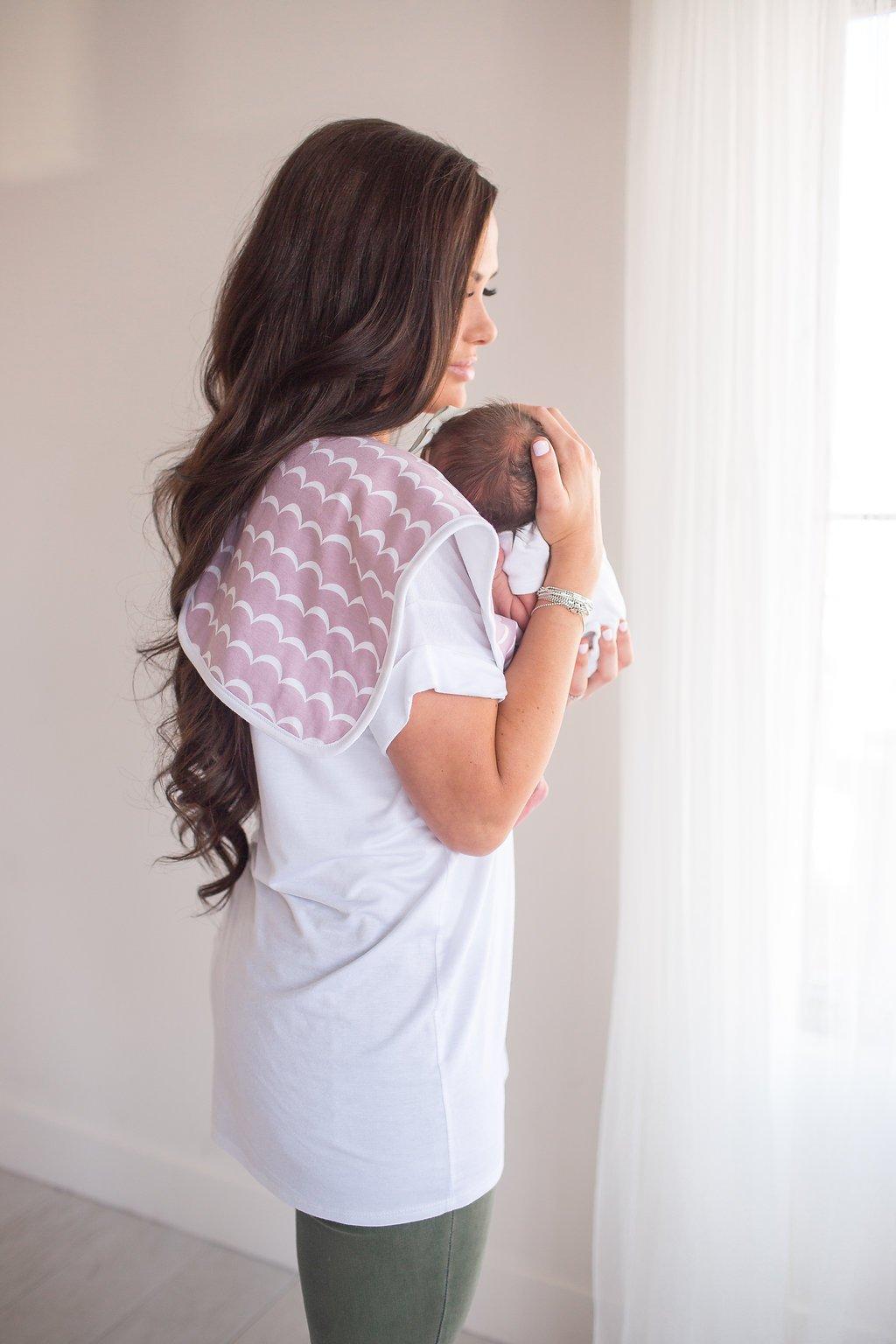 Image of COPPER PEARL PREMIUM BURP CLOTHS- ROSIE