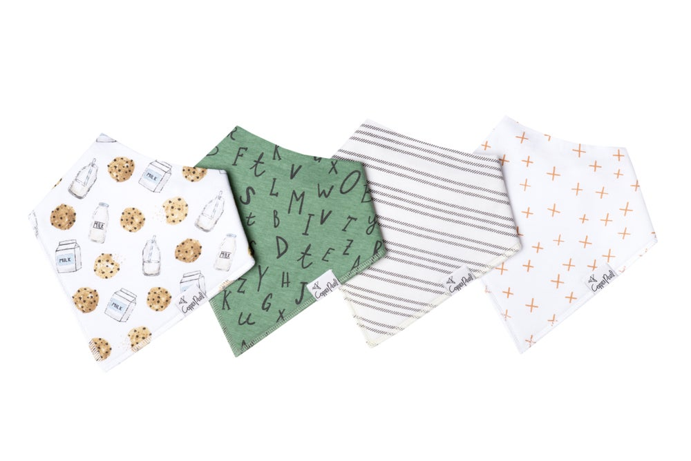 Image of COPPER PEARL BANDANA BIBS- CHIP