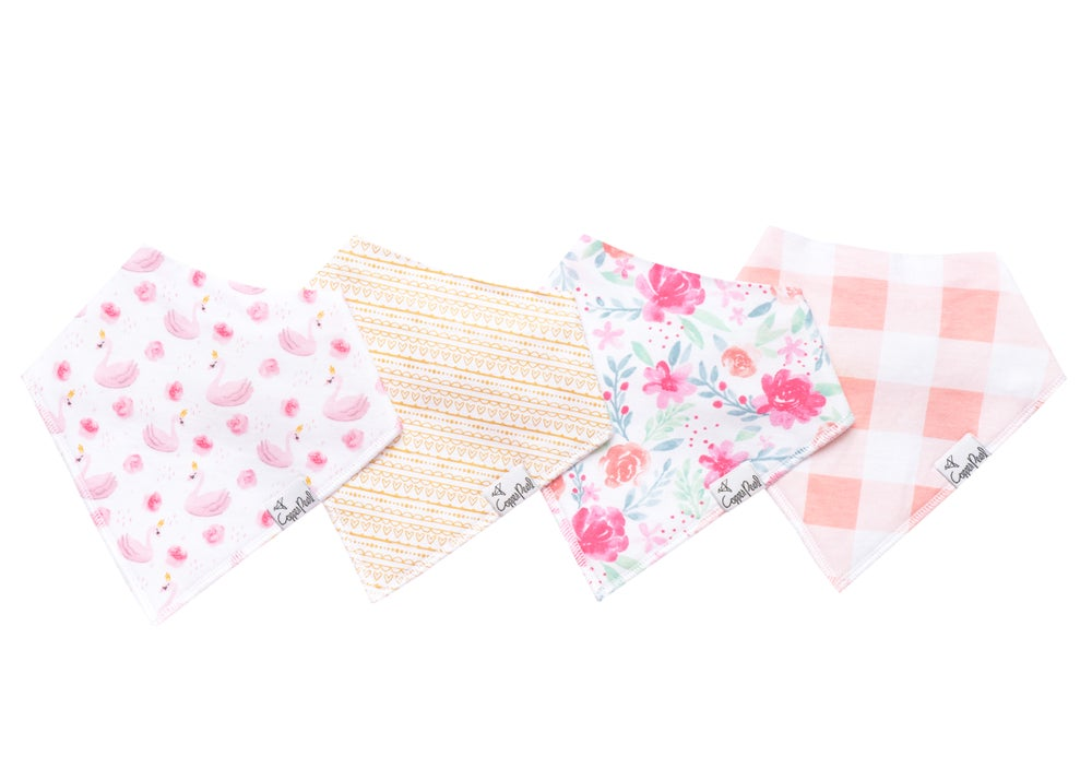 Image of COPPER PEARL BANDANA BIBS- JUNE