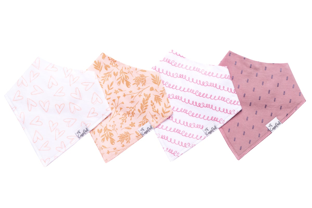 Image of COPPER PEARL BANDANA BIBS- LOLA