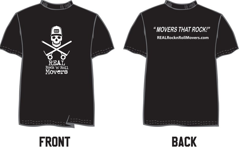 Image of REAL RocknRoll Movers Logo'd T-shirt