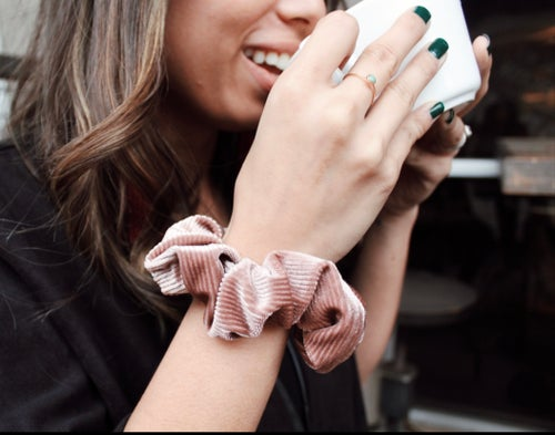 Image of Rose Gold Velvet Scrunchie