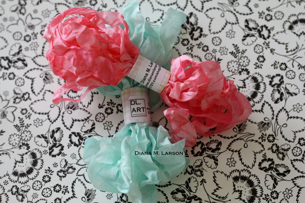 Image of Mint Julep and Berry Sorbet Crinkle Ribbon