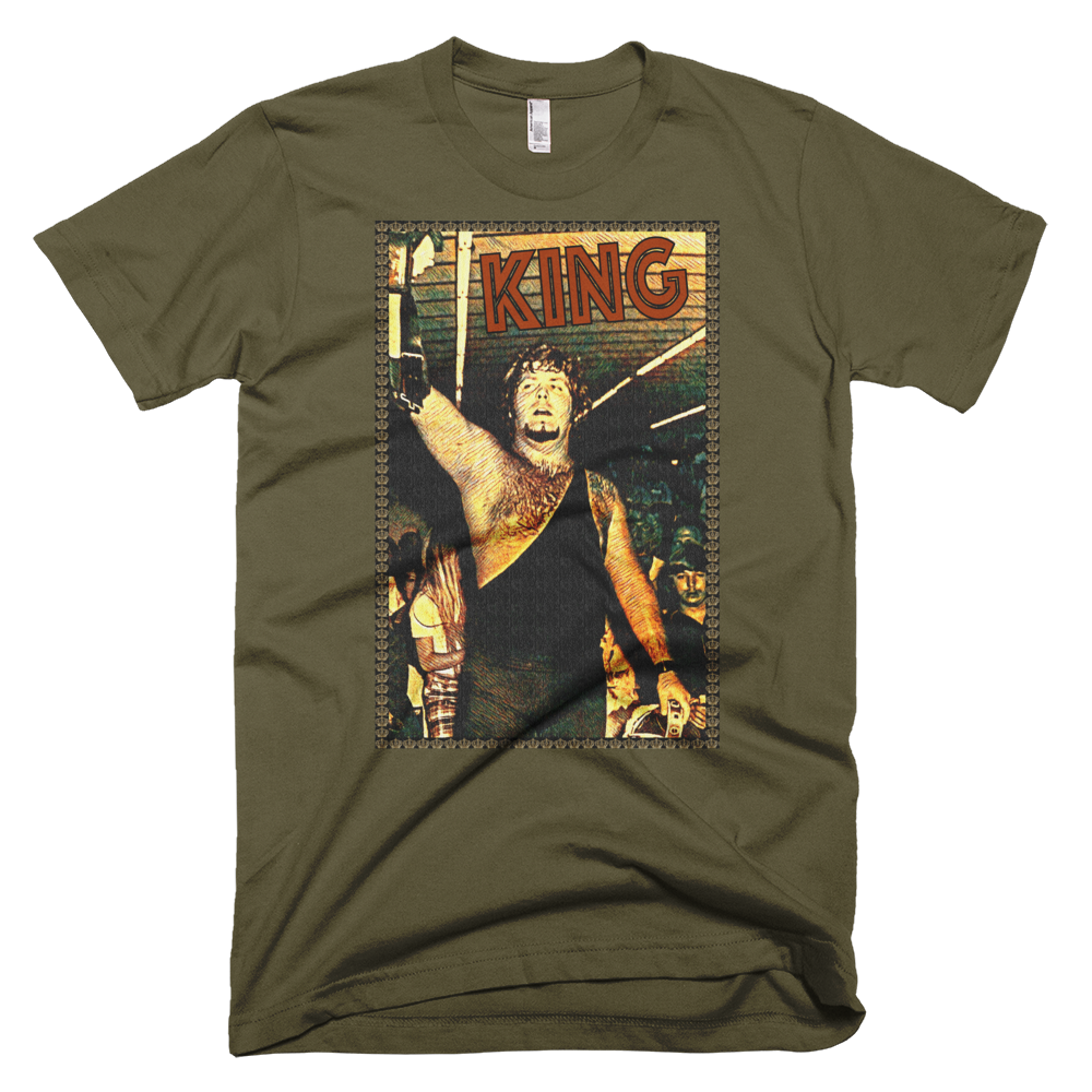 Image of King's Army Tee (Army Green, Royal Blue & Slate Grey, American Apparel Premium Tee)