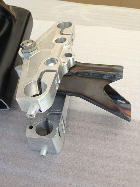 "Image of AF Kustoms weld in 26"" neck for Softails"