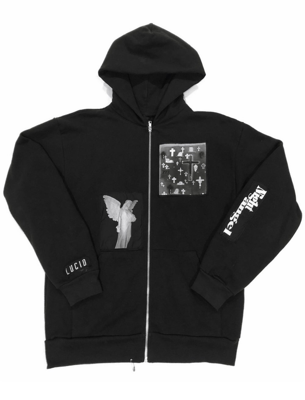 Image of NIGHT ANGEL ZIP HOODIE