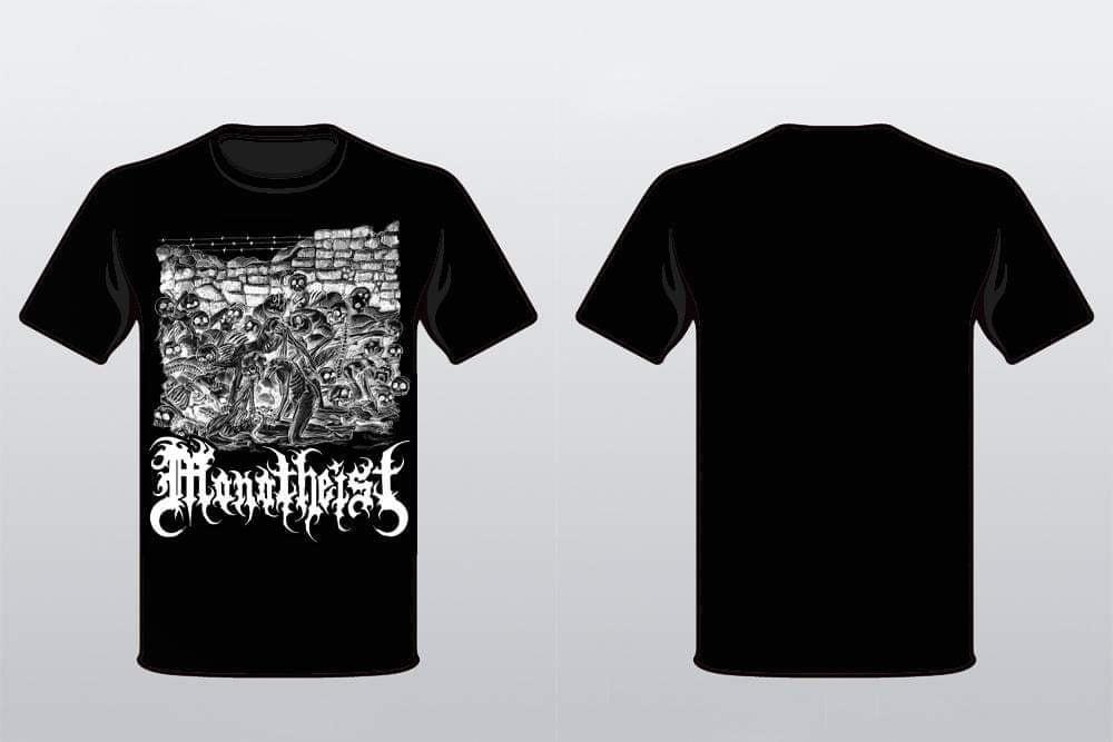 """Image of """"Feeding on Pestilence"""" Zombie T-Shirt"""