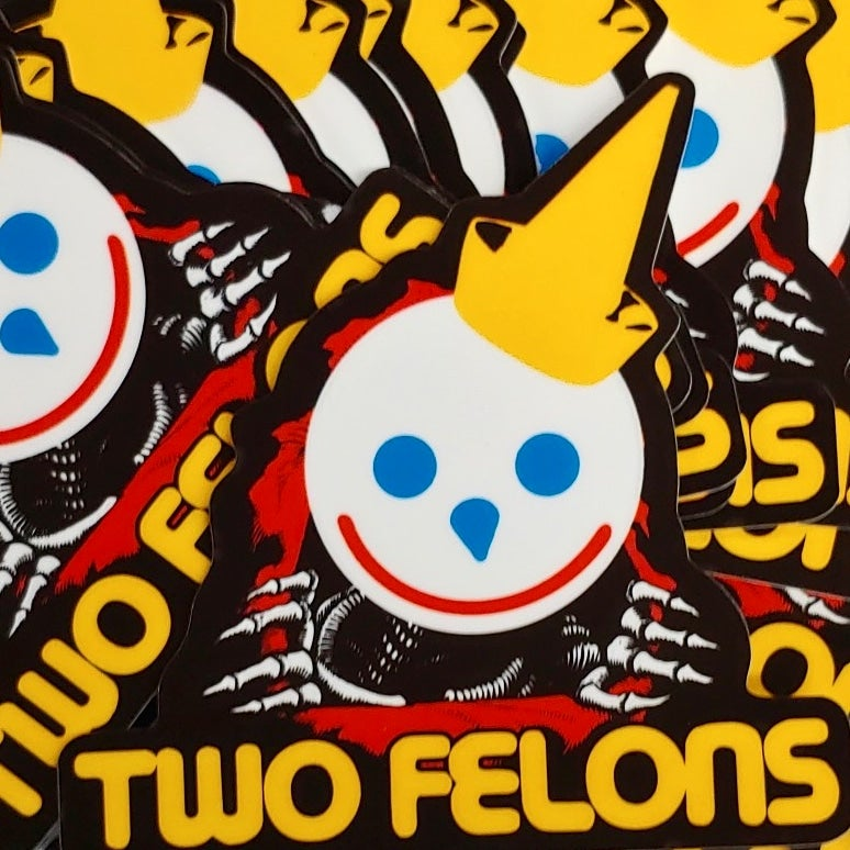 """Two Felons 2 """"Jack The Ripper"""" stickers"""