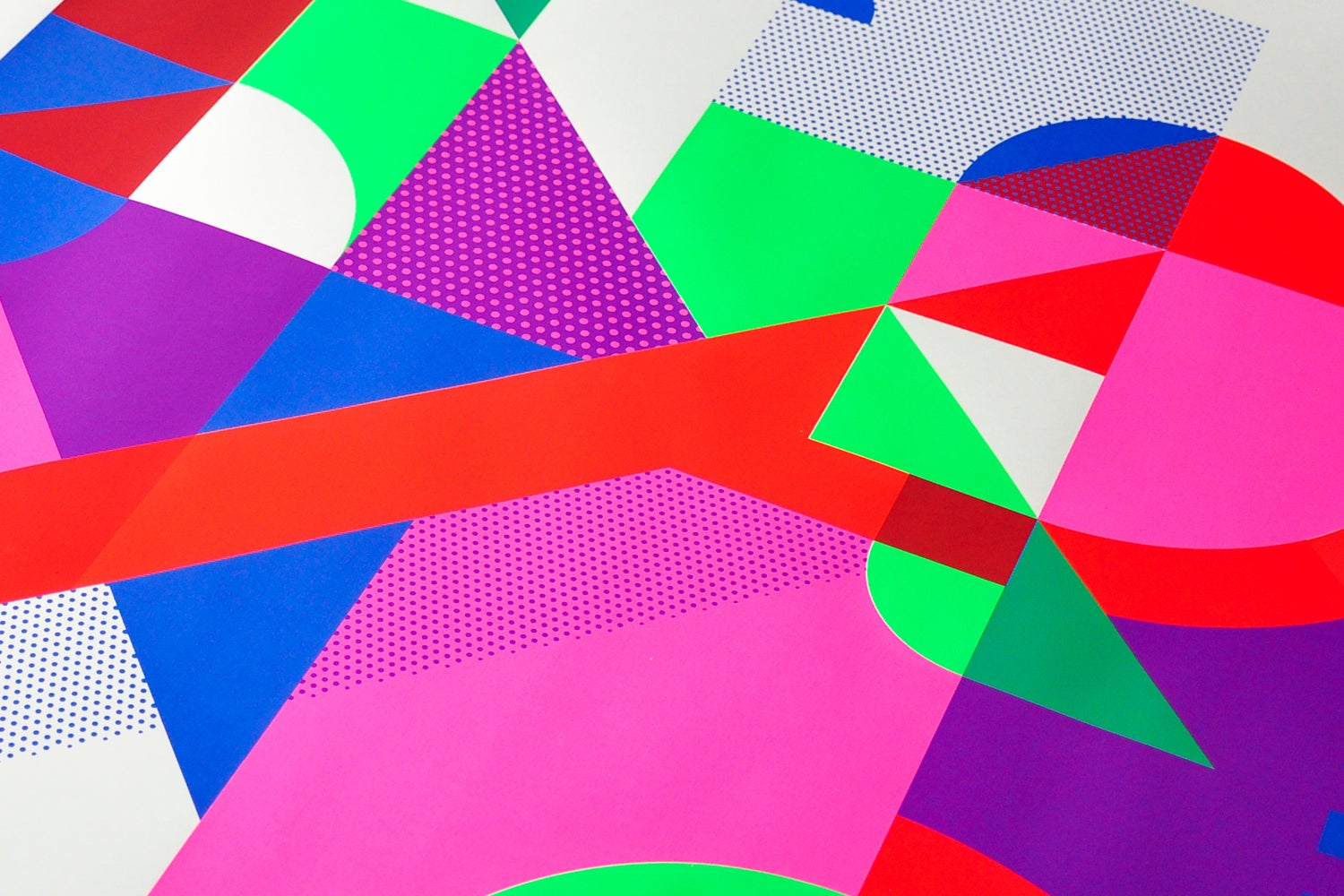 Image of bright coloured grid