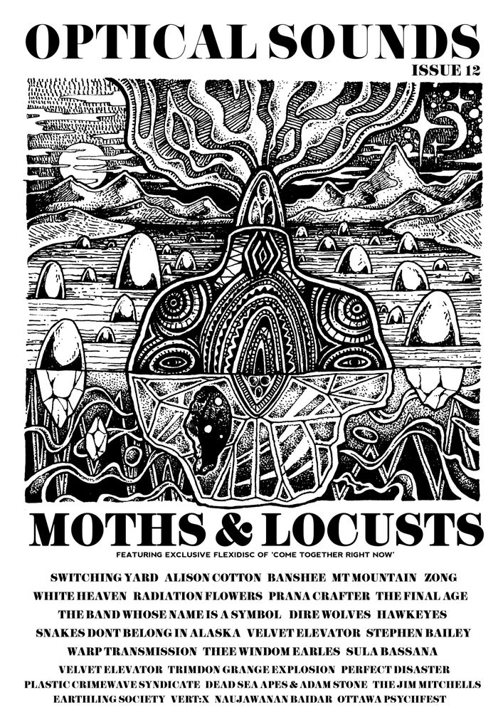 Image of Optical Sounds #12 with Moths and Locusts Flexi. 76 Pages PDF edition also available 5 LEFT