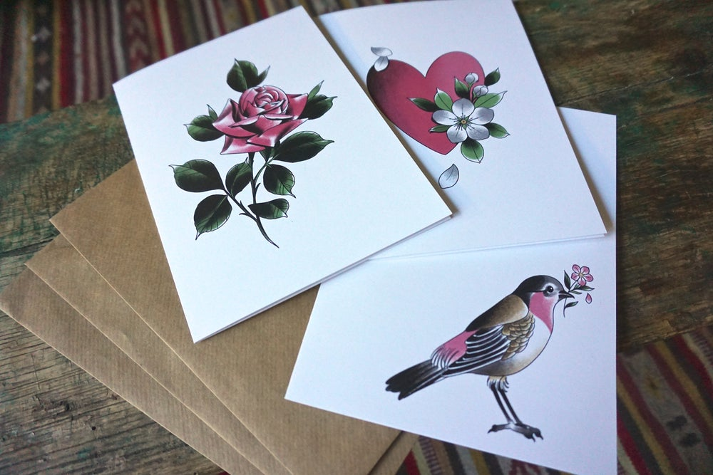 Image of Pack of 3 Greeting Cards/Prints