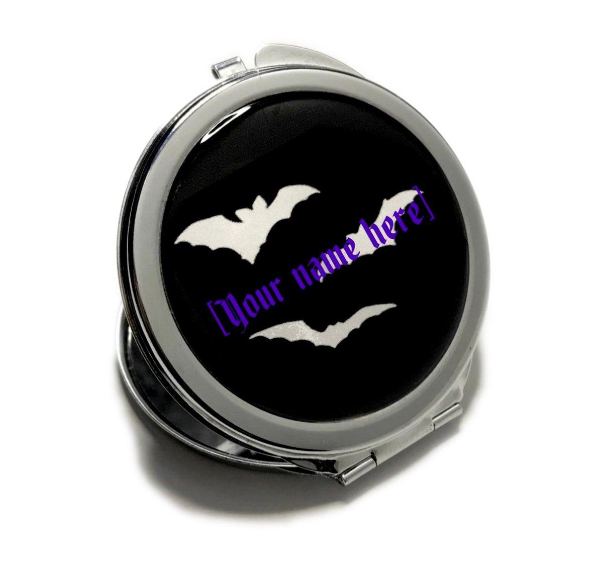 Image of Batty Custom Name Compact Mirror