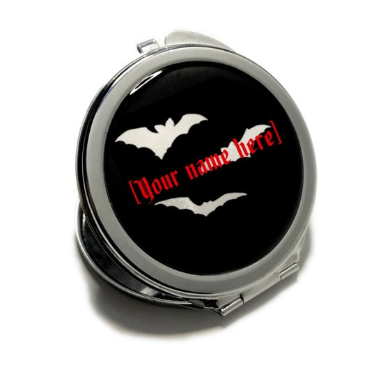Image of Batty Custom Name Compact Mirror