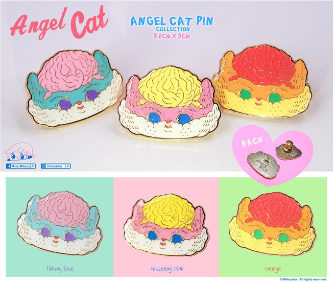 Image of Angel Cat Pin Collection