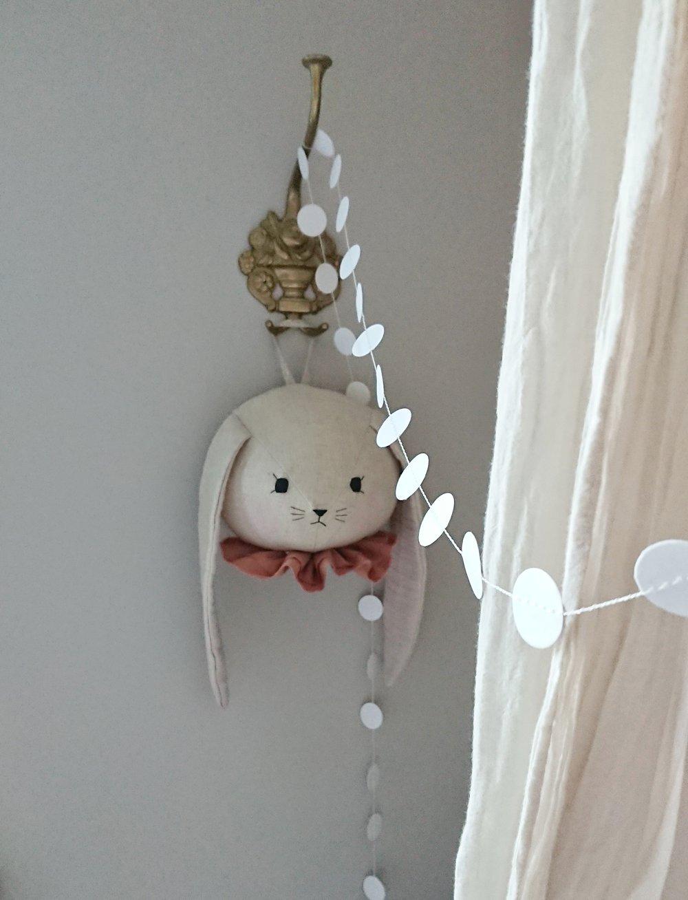 Image of Bunny wall head with rust collar
