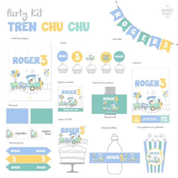 Image of Party Kit Tren Chu Chu Impreso