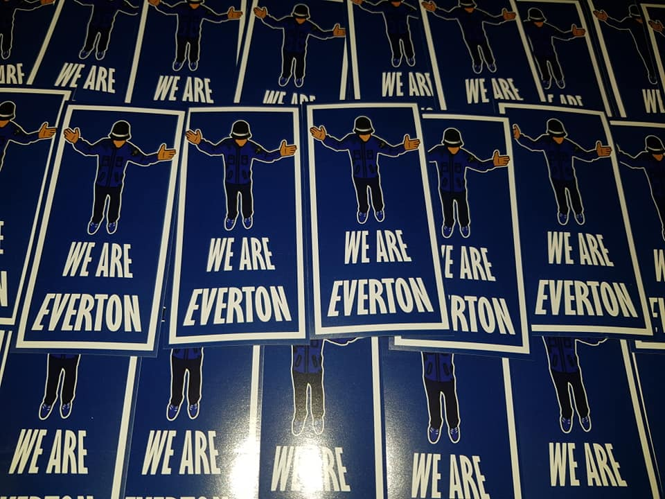 We are Everton Football/Ultras/Casuals/Hooligans 10x5cm Stickers Pack of 25