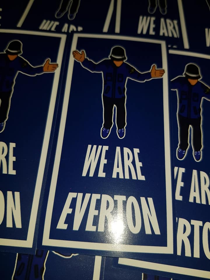 Image of We are Everton Football/Ultras/Casuals/Hooligans 10x5cm Stickers Pack of 25