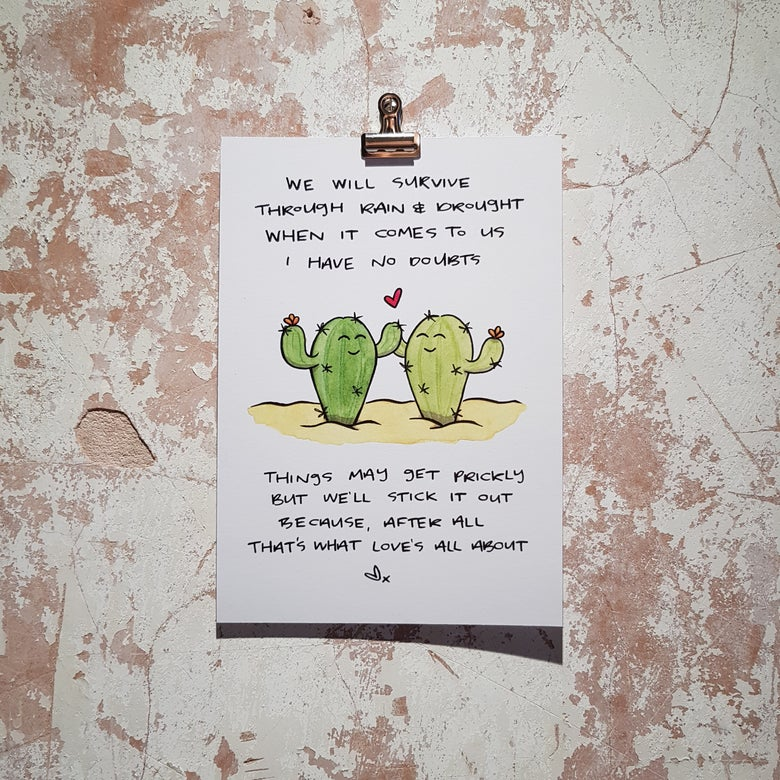 Image of Cacti Love Print A5