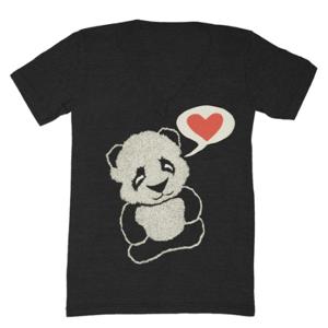 Image of Panda V-Neck - Unisex XXS, XS