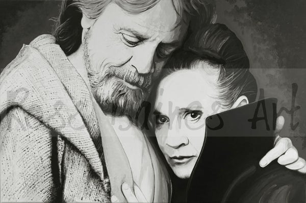 Image of LUKE AND LEIA (3x2ft canvas print)