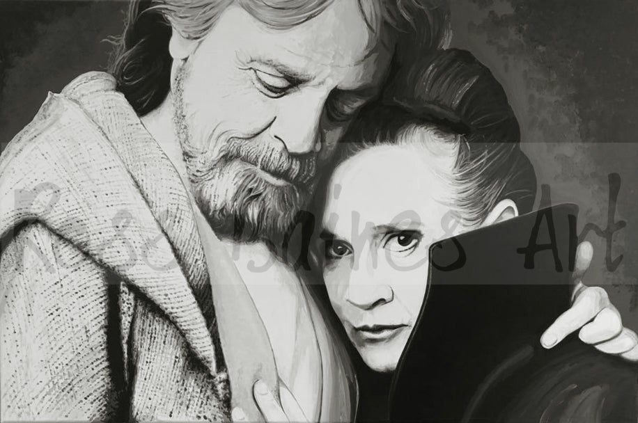 Image of LUKE AND LEIA - Fine art print A1, A2, A3