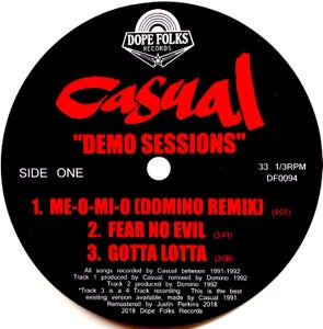 "Image of CASUAL ""DEMO SESSIONS"" (Standard Black Vinyl) PRE-ORDER"