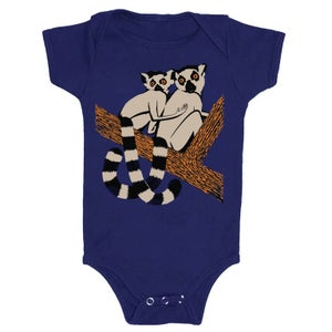 Image of BABY - Lemurs - Navy Blue