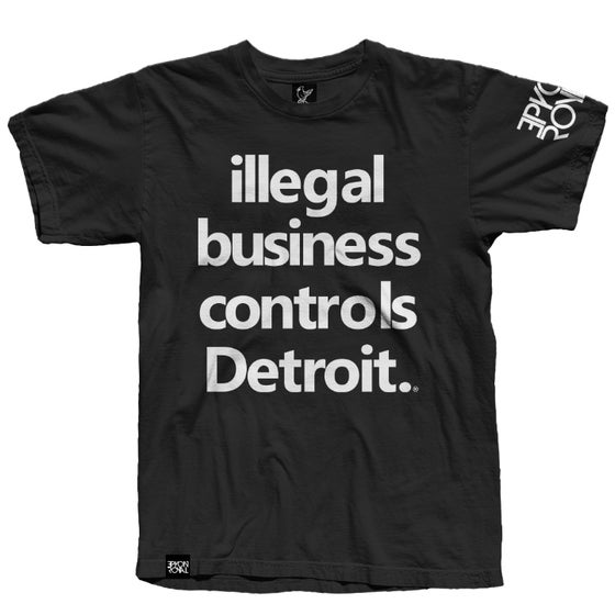 Image of Detroit Control Black Tee (Ships Mid Feb)