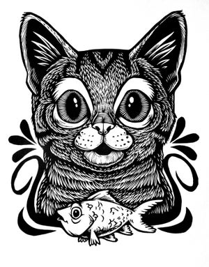 Image of Surprised Cat T-shirt **FREE SHIPPING**
