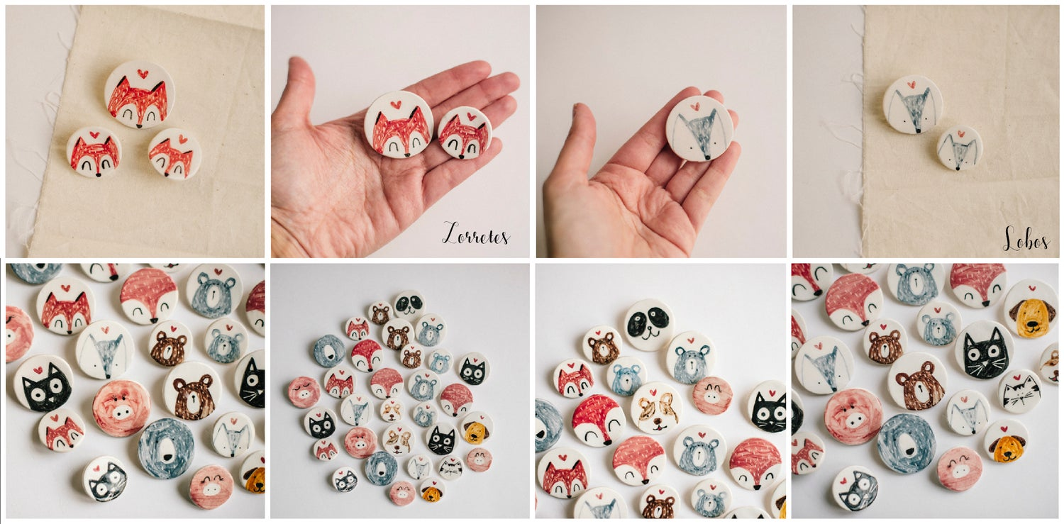 Image of Broches Animales Redonditos