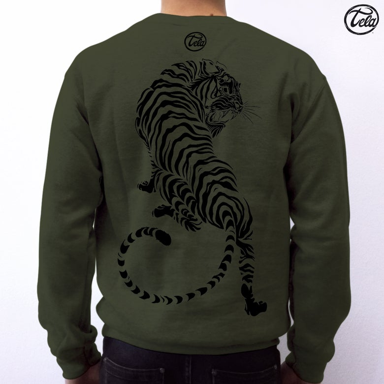 Image of Eleganza Striata Military Crewneck