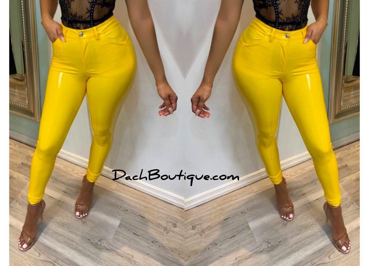 Image of Yellow Latex Pants