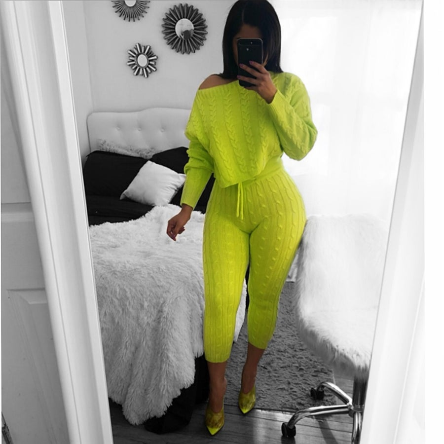 Image of Neon chill sweater set
