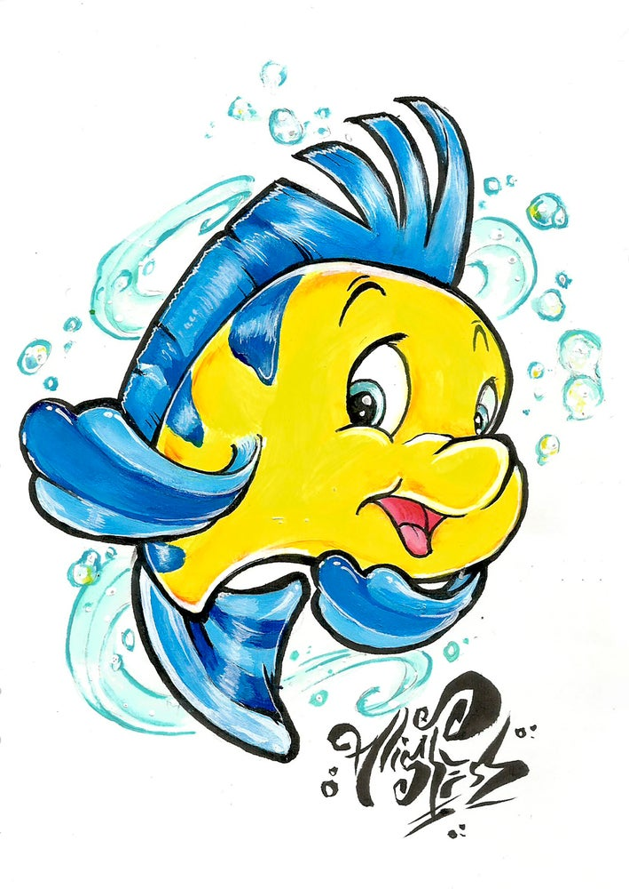 "Image of ""Flounder"" Original Painting"