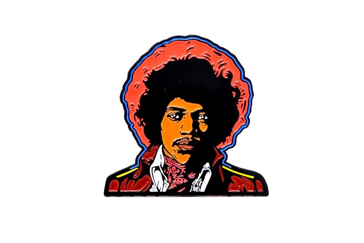 Image of Jimi Hendrix - Both Sides of the Sky Enamel Pin
