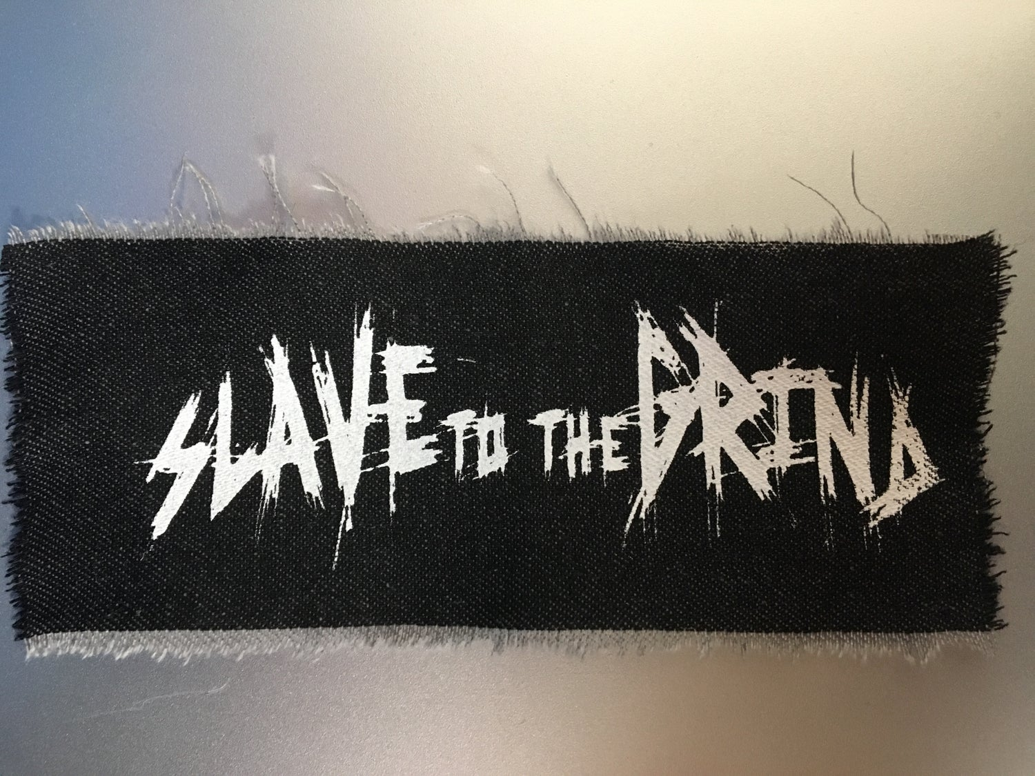 Image of Slave To The Grind Silk Screened Patch