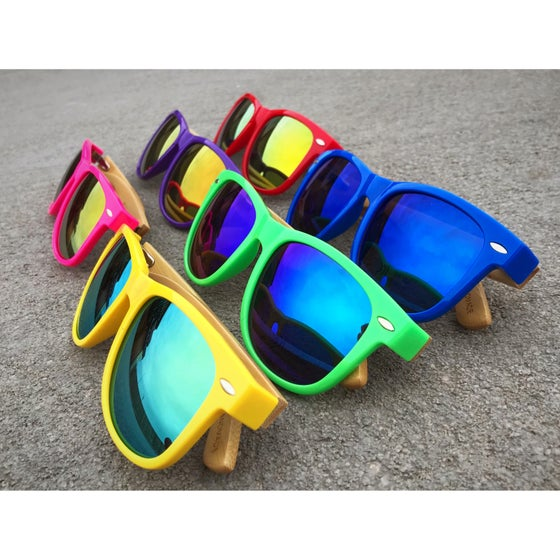 Image of Colored Braap Bamboo Sunglasses With Polarized Lenses
