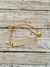 Gold Personalized Bracelet