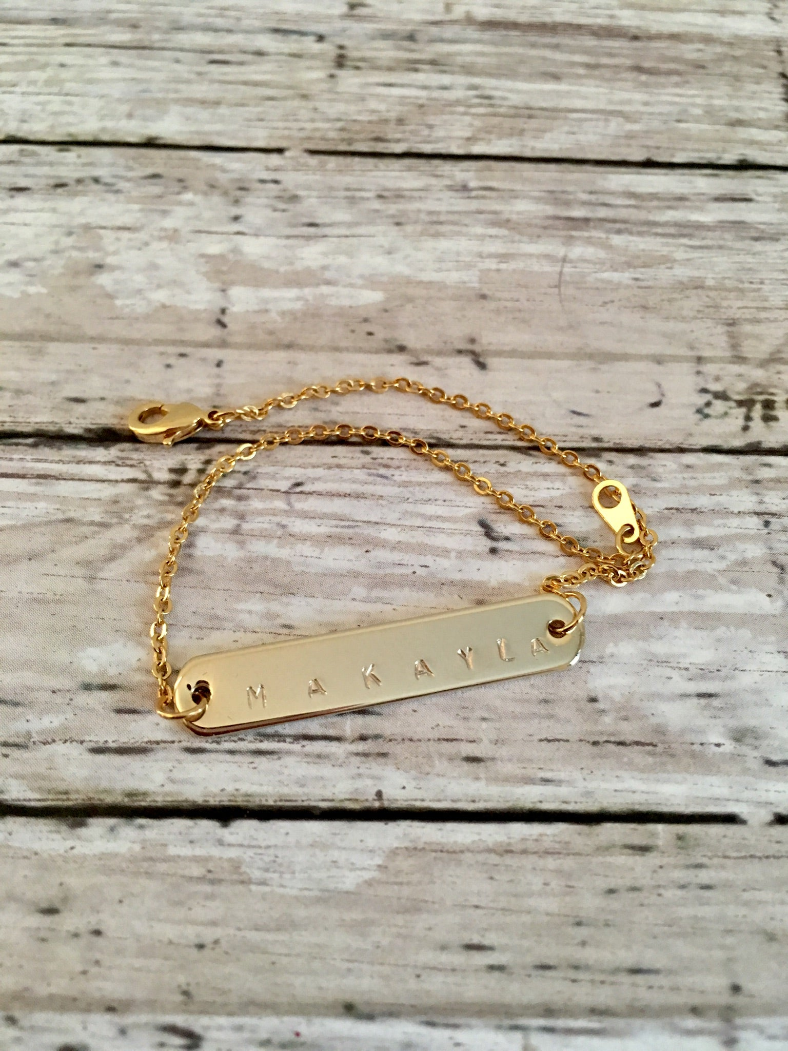 Image of Gold Personalized Bracelet