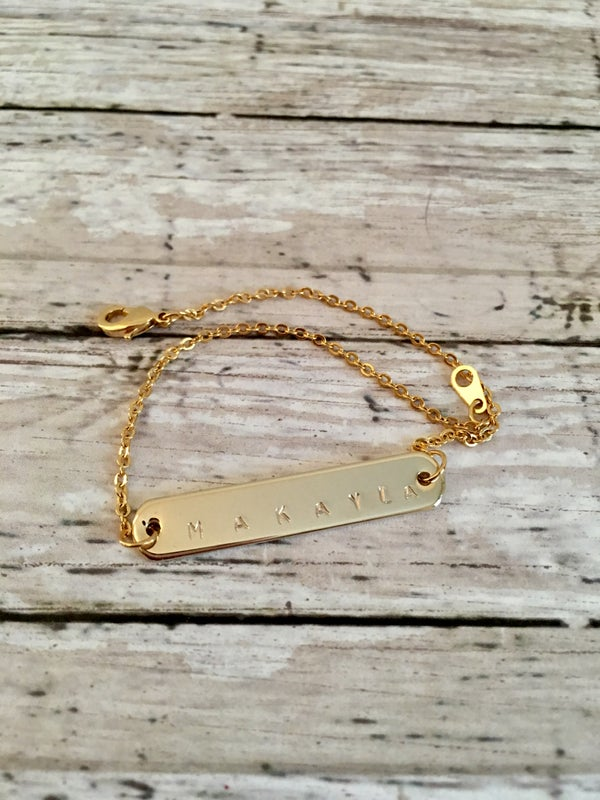 Image of Gold Personalized Bracelet