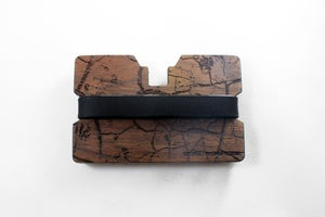 Image of Cracked Earth - Flexband Wooden Wallet Credit Card Holder/Phone Stand