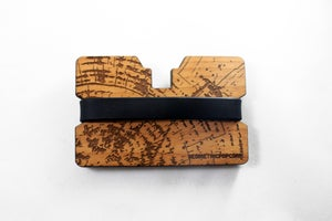 Image of Tree Rings - Flexband Wooden Wallet Credit Card Holder/Phone Stand
