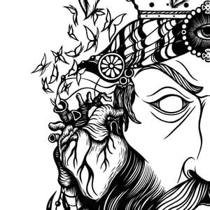 Image of Testa di Moro Tattoo Crewneck
