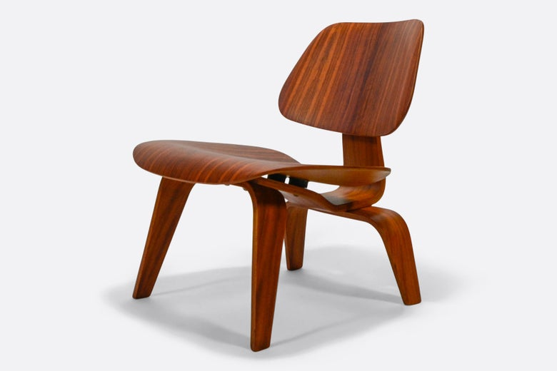 Image of Eames Herman Miller LCW in Ultrarare Palissandro wood